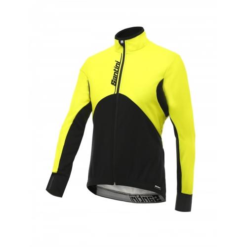 Santini Impero Jacket yellow -Ποδηλατικό χειμερινό μπουφάν Δαλαβίκας bikes
