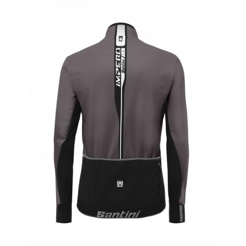 Santini Impero Jacket grey -Ποδηλατικό χειμερινό μπουφάν Δαλαβίκας bikes