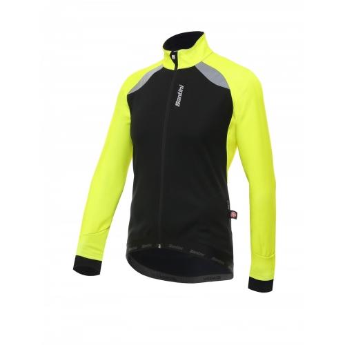 Santini Polar Jacket yellow -Ποδηλατικό χειμερινό μπουφάν Δαλαβίκας bikes