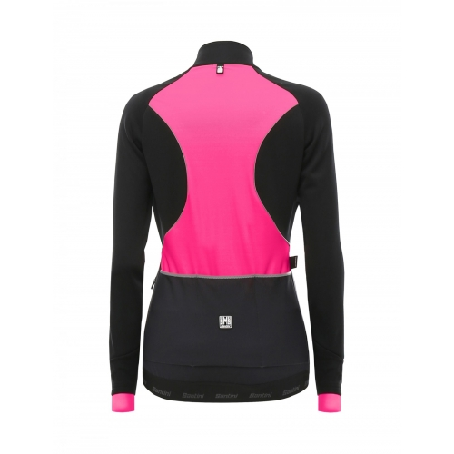 Santini Coral Jacket Pink -Ποδηλατικό χειμερινό γυναικείο αδιάβροχο μπουφάν Δαλαβίκας bikes