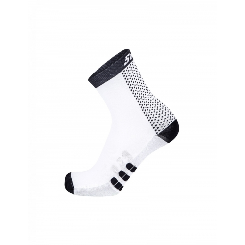 Santini two black ποδηλατική κάλτσα