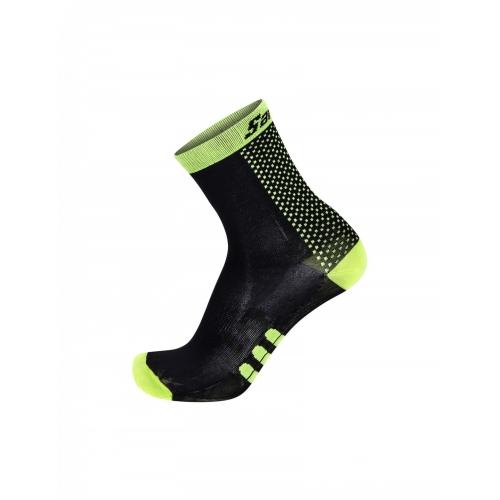 Santini two yellow ποδηλατική κάλτσα