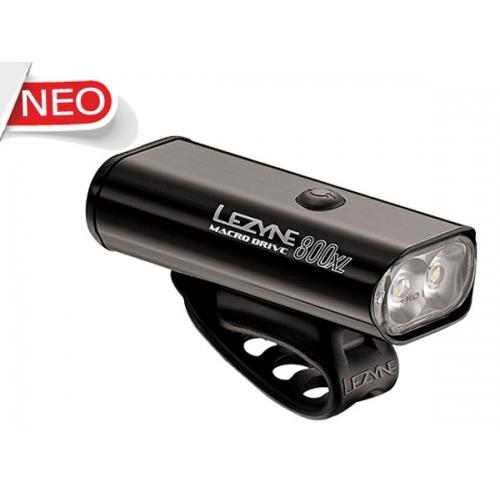 Lezyne μαύρο Macro Drive XL μπροστινό φως 800 lumens