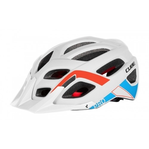 Cube Helmet PRO Teamline white Κράνος Βουνού κ δρόμου