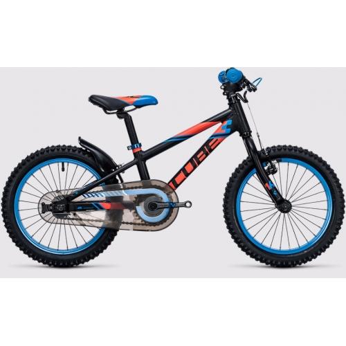 Cube Kid 160 black & flashred & blue Παιδικό Ποδήλατο