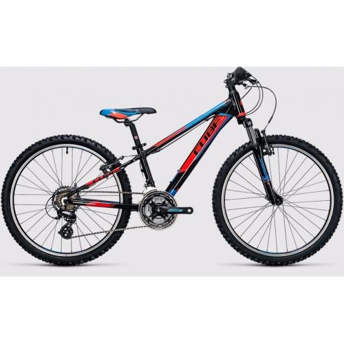 Cube Kid 240 black & flashred & blue Παιδικό Ποδήλατο