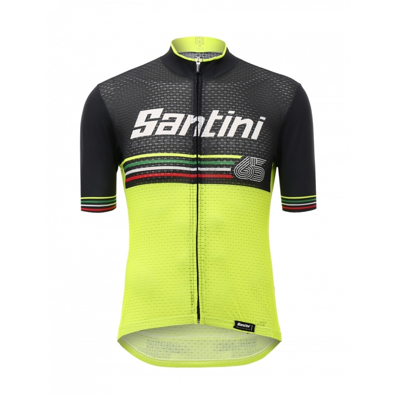 SANTINI BEAT - S/S JERSEY YELLOW ποδηλατική μπλούζα Dalavikas bikes