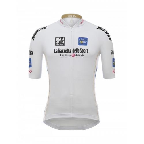 SANTINI Giro d'Italia 2017 - White jersey ποδηλατική μπλούζα Δαλαβίκας bikes