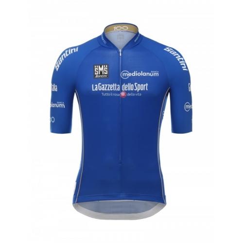 SANTINI Giro d'Italia 2017 - Blue jersey ποδηλατική μπλούζα Δαλαβίκας bikes
