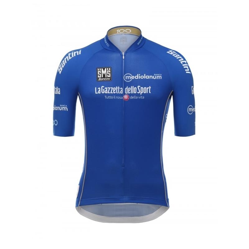 SANTINI Giro d'Italia 2017 - Blue jersey ποδηλατική μπλούζα