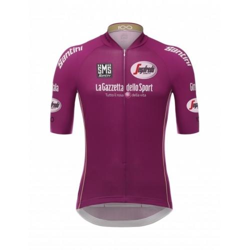 SANTINI Giro d'Italia 2017 - Cyclamen jersey ποδηλατική μπλούζα Δαλαβίκας bikes
