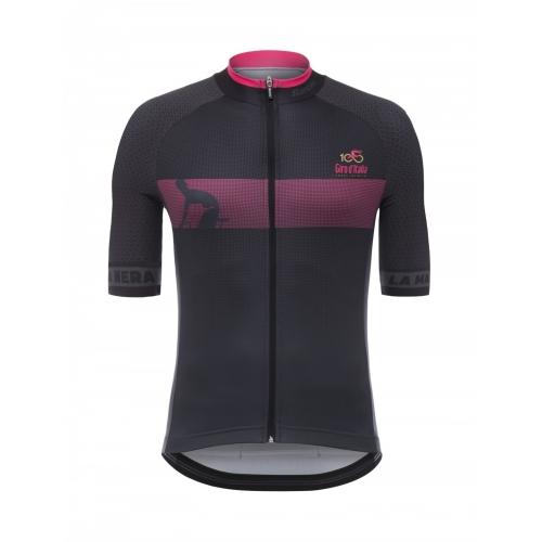 SANTINI MAGLIA NERA - S/S Jersey ποδηλατική μπλούζα