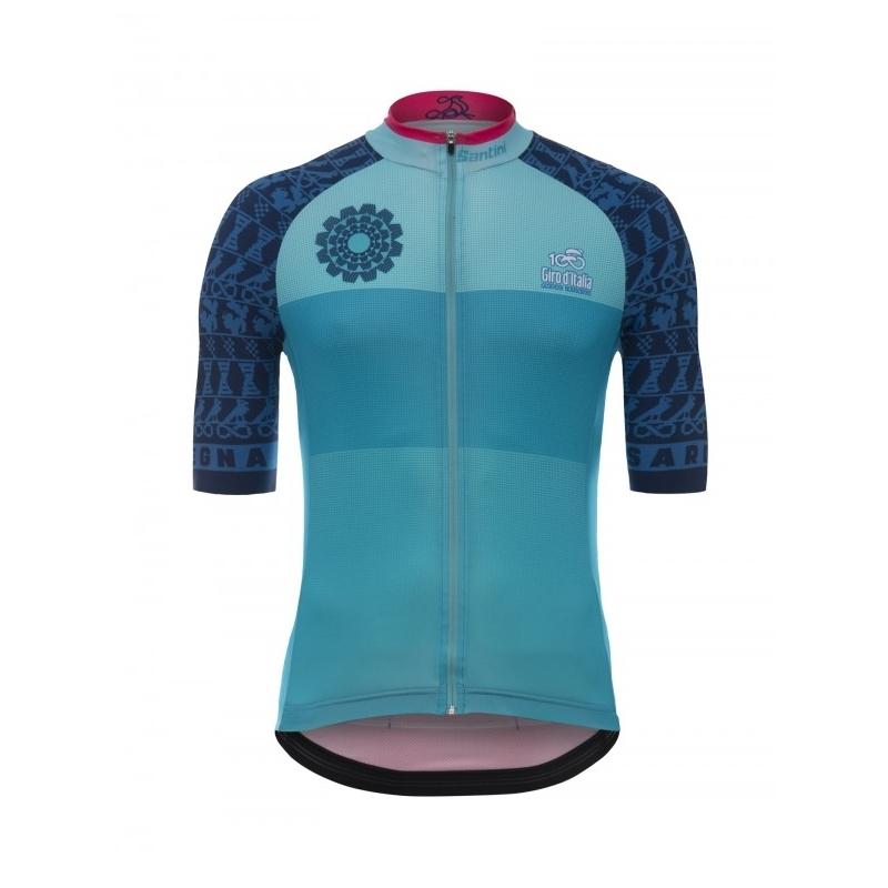 SANTINI SARDINIA - S/S Jersey ποδηλατική μπλούζα