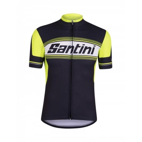SANTINI TAU Ποδηλατικό μπλουζάκι μαύρο