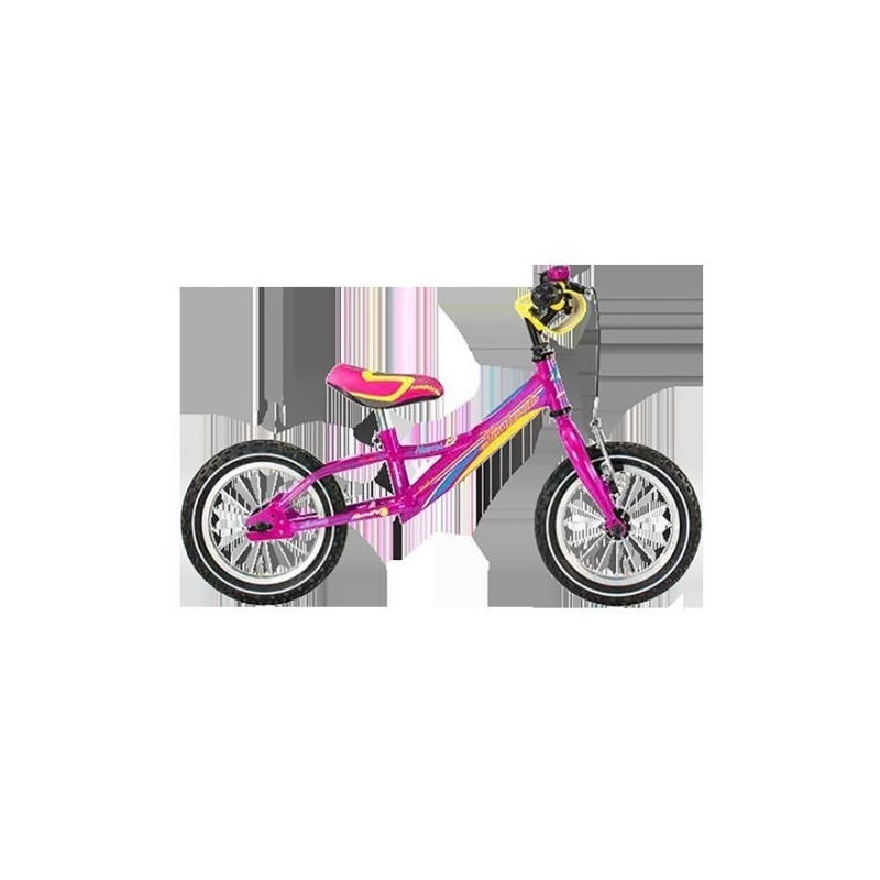 "Lombardo Naxos 12"" Kids Fuchsia Yellow Sky Blue εκπαιδευτικό ποδήλατο Dalavikas bikes"