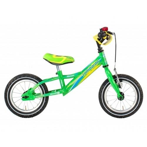 "Lombardo Naxos 12"" Kids Green Blue Yellow Glossy εκπαιδευτικό ποδήλατο Δαλαβίκας bikes"