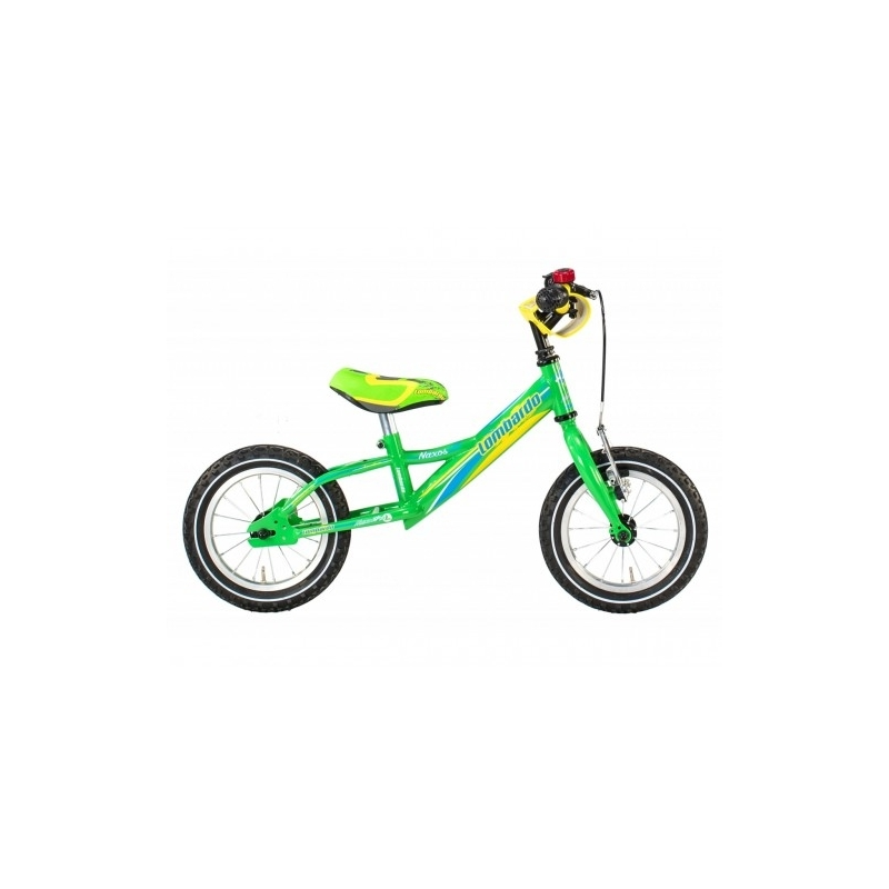 "Lombardo Naxos 12"" Kids Green Blue Yellow Glossy εκπαιδευτικό ποδήλατο Dalavikas bikes"