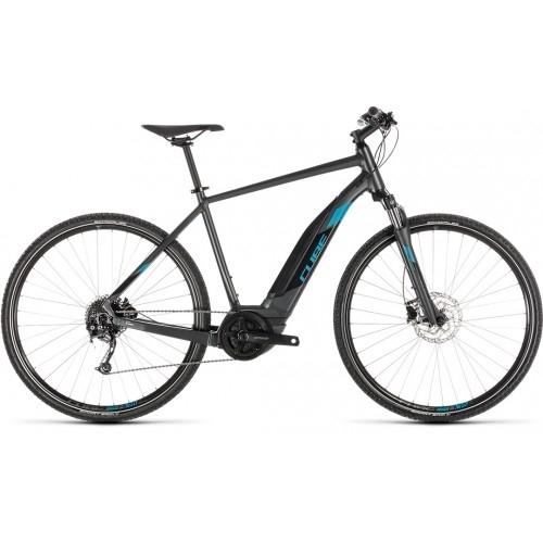 Ηλεκτρικό Ποδήλατο Cube Cross Hybrid One 400 Iridium-Blue - 2019