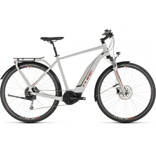 Ηλεκτρικό Ποδήλατο Cube Touring Hybrid 400 Grey-Orange - 2019