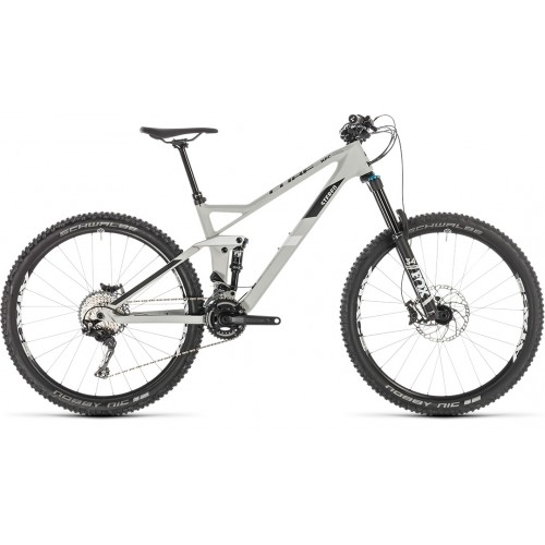 "Ποδήλατο Downhill Cube Stereo 140 HPC Race 27.5"" Grey-White - 2019"