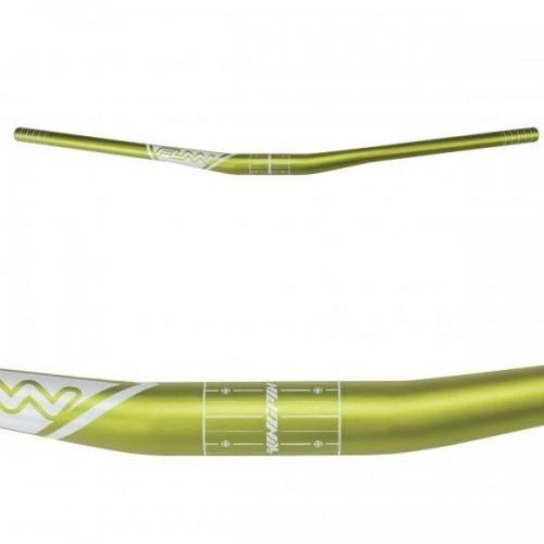 Τιμόνι Funn KINGPIN 31.8MM Rise 15mm x 785mm x 8° Back x 5,5° Up - Green