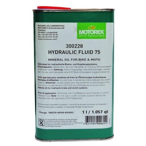 Hydraulic Fluid 75 Motorex Mineral Υγρό για δισκόφρενα 1 lt Δαλαβίκας bikes