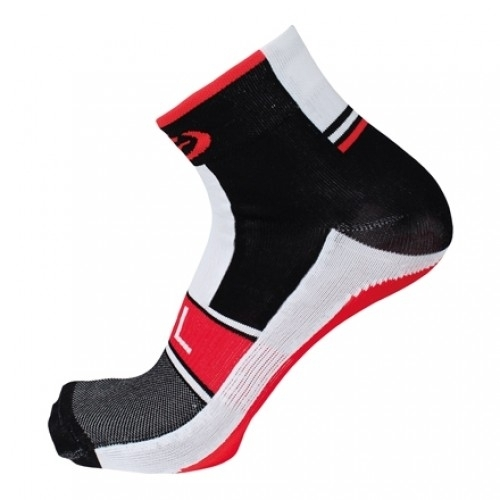 AKILLE. Bicycle line κάλτσες καλοκαιρινές μαύρες - κόκκινες.