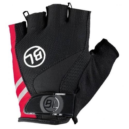 PASSISTA. Bicycle Line γάντια κοντά μαύρο/κόκκινο.