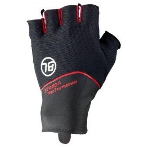 STRADA. Bicycle Line γάντια κοντά μαύρο/κόκκινο.