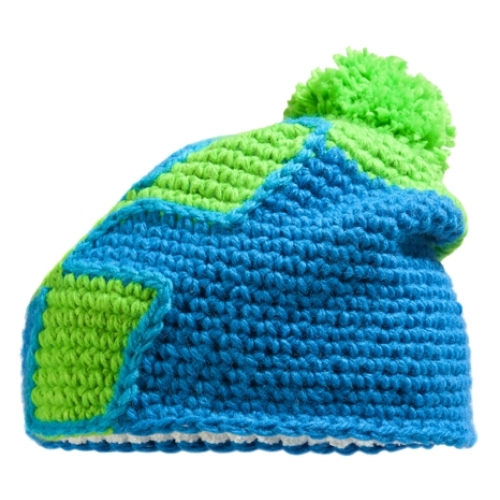 Cube Bobble Cap Icon 11690 - Green 'n' Blue