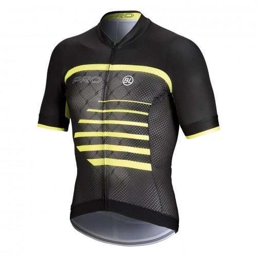 Μπλούζα Bicycle Line με κοντό μανίκι Pro- Μαύρο/Fluo Κίτρινο.