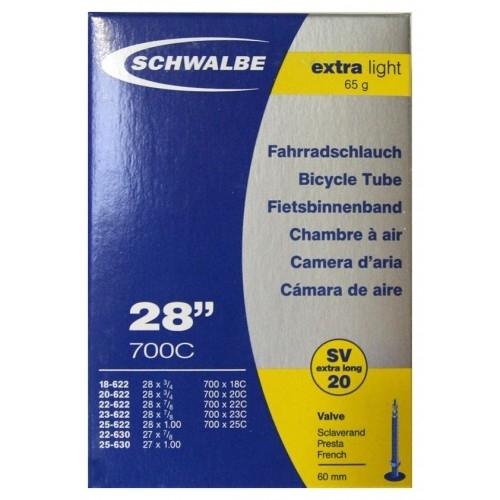 Αεροθάλαμος Schwalbe 700 x 18/25C (18/25-622/630) SV 20 Extra Light 50mm Δαλαβίκας bikes