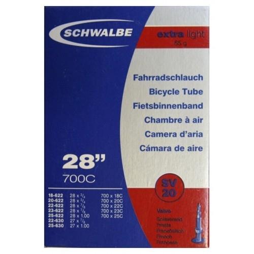 Αεροθάλαμος Schwalbe 700 x 18/25C 40mm (18/25-622/630) SV 20 Extra Light Δαλαβίκας bikes