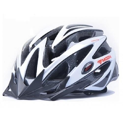 Κράνος ενηλίκου Moon MV29 White/Carbon Δαλαβίκας bikes