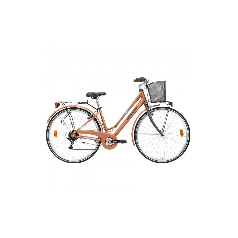 "Lombardo Mirafiori 250 28"" Donna Trekking Copper Grey Matt Dalavikas bikes"