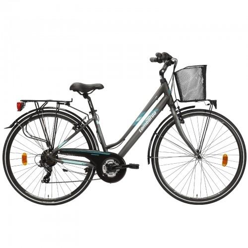 "Lombardo Mirafiori 270 28"" Donna Trekking Anthracite Green Matt Δαλαβίκας bikes"
