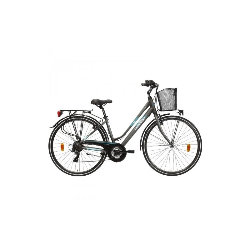 """Lombardo Mirafiori 270 28"""" Donna Trekking Anthracite Green Matt Dalavikas bikes"""
