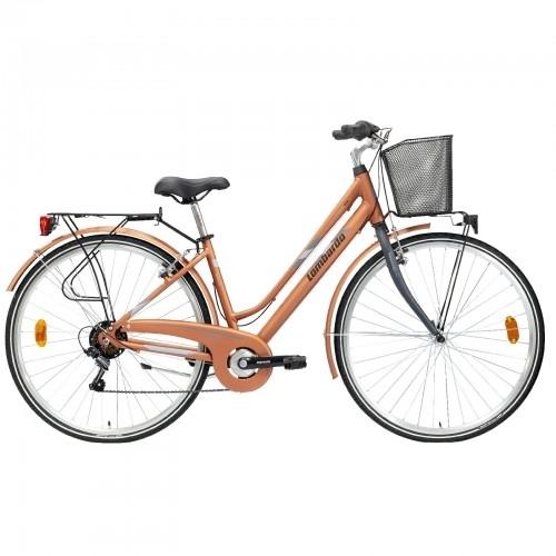 "Lombardo Mirafiori 270 28"" Donna Trekking Copper Grey Matt Δαλαβίκας bikes"