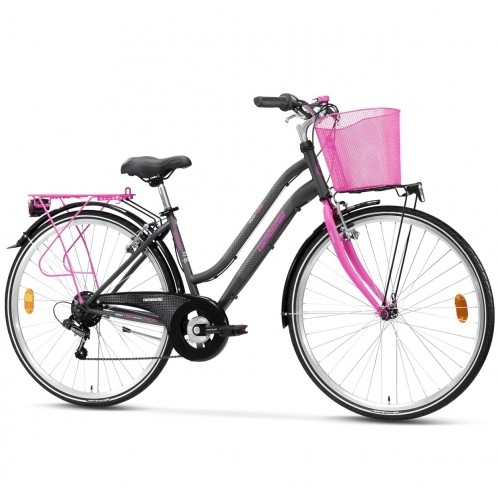 "Lombardo Siena 100 28"" Donna Trekking - Anthracite Fuchsia Glossy ποδήλατο πόλης Δαλαβίκας bikes"