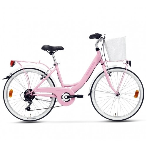 "Lombardo Rimini 24"" City 6-speed Light Pink-Pink Δαλαβίκας bikes"