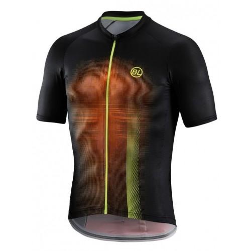Μπλούζα Bicycle Line με κοντό μανίκι Treviso - Μαύρο/Fluo Πορτοκαλί