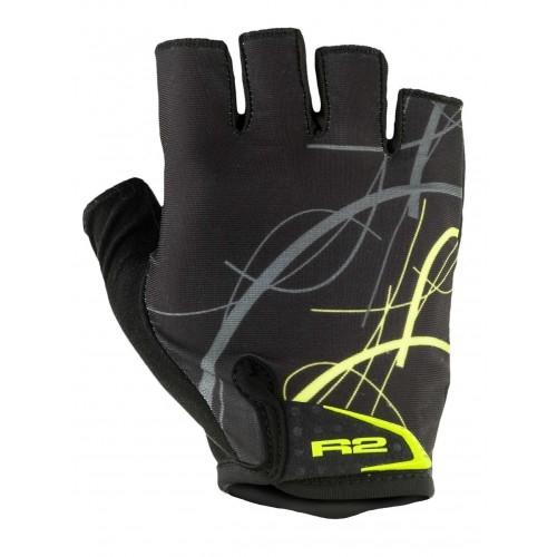 Γάντια R2 EASER - Μαύρο/Fluo Κίτρινο Δαλαβίκας bikes